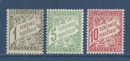 Monaco Taxe - YT N° 1 à 3 - Neuf Sans Charnière - 1905 à 1909 - Strafport