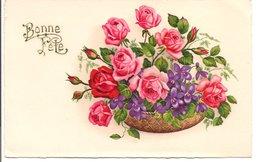 """L20H031 -Bonne Fête -  """"Panier De Fleurs"""" - Fox - Holidays & Celebrations"""