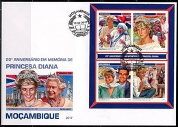 Mozambico 2017, Diana, Mother Teresa, 4val In BF In FDC - Mother Teresa