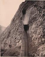 PHOTO SUISSE - PILATUSBAHN - ESELWANDTUNNEL  - PHOTOGLOB  27.5  X 21 CM - Plaatsen