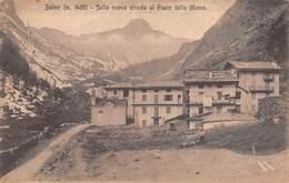 """0548 """"(TO) BALME M 1458 - SULLA NUOVA STRADA AL PIANO DELLA MUSSA""""  STEMMA CLUB ALPINO ITALIANO. CART  SPED 1920 - Italie"""