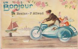 BRAINE - L' ALLEUD + UN BONJOUR - Carte à Systhème. - Braine-l'Alleud