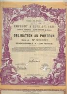 OBLIGATION ILLUSTREE VILLE DE PARIS - EMPRUNT A LOT 4 % 1931  -TB - Banque & Assurance