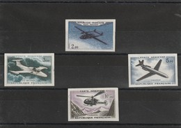 Timbre France Non Dentelé Poste Aérienne N° 39 A 41 ** Sans Charniére 39 Leger Defaut Dans La Marge - Non Dentelés