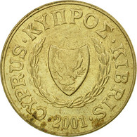 Monnaie, Chypre, 20 Cents, 2001, TB+, Nickel-brass, KM:62.2 - Chypre