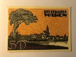 Allemagne Notgeld Waren 50 Pfennig - [ 3] 1918-1933 : République De Weimar