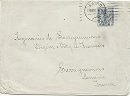 LETTRE 1923 POUR LA FRANCE. - 1915-1921 Protectorat Britannique