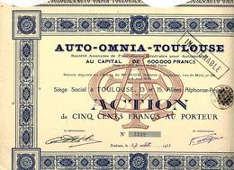 AUTOMOBILES AUTO OMNIA TOULOUSE 1933 B.E.VOIR SCANS + COTATION - Automobile