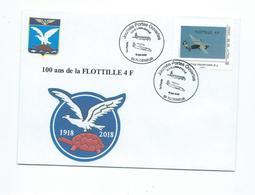 16563 -AERONAVALE - BAN DE LANN-BIHOUÉ - 100 Ans De La 4 F -  TIMBRE PERSONNALISÉ  (TORTUE) - Marcofilie (Brieven)
