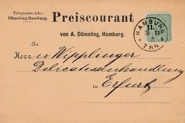 CP Affr Michel 39 Obl HAMBURG Du 18.11.85 Adressée à Erfurt - Briefe U. Dokumente