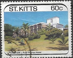 ST KITTS 1988  Tourism. Hotels - 60c  Fort Thomas Hotel FU - St.Kitts And Nevis ( 1983-...)