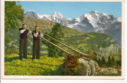"""L20H042 - Souffleurs De """"Cor Des Alpes"""" Alpes Benoises - Gyger&klopfenstein N°A 17686 - Musique Et Musiciens"""