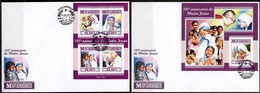 Mozambico 2015, Mother Teresa, 4val +BF In FDC - Mother Teresa