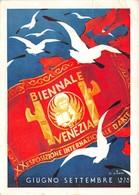 """0556 """"VENEZIA - XX ESPOSIZIONE BIENNALE INTERNAZIONALE D'ARTE - GIUGNO 1936"""" TIMBRO NR POSTINO . CART SPED 1936 - Venezia (Venice)"""