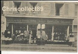 Carte Postale Villeneuve  Saint Georges - Magasin  Confection Aux Travailleurs - A - Minier - Villeneuve Saint Georges