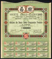 AL001 Societe Anglo-Algerienne. - Aandelen
