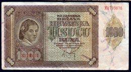 CROATIA NDH 1941. 1000 Kuna / WAR BANKNOTE - Croatia