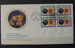 ONU Lettre De 1968 Avec Bloc De 4 - Autres - Europe