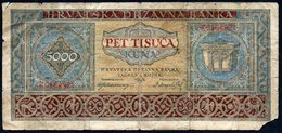 CROATIA NDH 1943. 5.000 Kuna / WAR BANKNOTE - Croatia