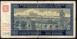 BOHEME ET MORAVIE 1940. 100 KORUN / WAR BANKNOTE - Tchécoslovaquie