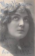 """0559 """"MARIA ZAMBONI - PONTI SUL MINCIO 1895 / PESCHIERA DEL GARDA 1976""""  AUTOGRAFO. - Théâtre"""