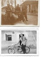 MOTO ET MOTO SIDE CAR DE L'ARMEE  2 PHOTOS  - PHOTO ORIGINALE 9 X 6 CM BON ETAT MOTOS - Sport