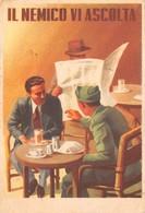 """0560 """"IL NEMICO VI ASCOLTA""""  ANIMATA. CART SPED 1941 - Humour"""