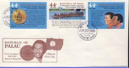 PALAU 1986  FDC 1er PRESIDENT YVERT N° - Palau