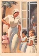 """0561 """"UNA CAREZZA, UN SORRISO - FEDERAZ. ITAL. NAZ. FASCISTA LOTTA TUBERCOLOSI"""" ANIMATA, ILLUSTR.DUDOVIH. CART SPED 1936 - Non Classés"""