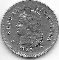 *argentina  10 Centavos 1938  Km 35  Unc !!! - Argentine