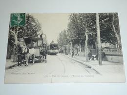 PLAN DE CUQUES - L' ARRIVEE DU TRAMWAY ET TRAMWAY A CHEVEAUX - 13 BOUCHES DU RHONE (AC) - Autres Communes