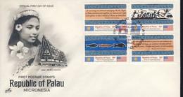 PALAU 1983  FDC 1er TIMBRES YVERT N°1/4 - Palau