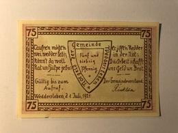 Allemagne Notgeld Weddersleben 75 Pfennig - [ 3] 1918-1933 : Weimar Republic
