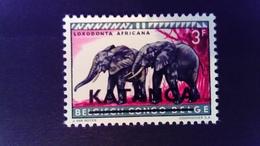 Katanga 1960 Elephant Congo Belge Surchargé Overprint Yvert 13 ** MNH - Katanga