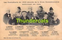 CPA LES COMBATTANTS DE 1830 DECORES DE LA CROIX COMMEMORATIVE SURVIVANT EN 1905 - Guerres - Autres