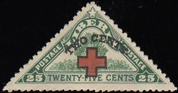 LIBERIA - Scott #B9 Traveler's Tree 'Surcharged' / Mint NG Stamp - Liberia