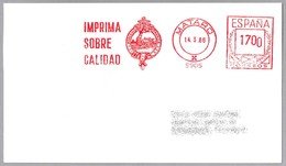 Franqueo Mecanico - Fabrica De Papeles - LOCOMOTORA - LOCOMOTIVE. Mataro 1986 - Trenes