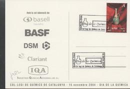 30175. Postal Barcelona 2004. Dia De La Quimica. Tarifa A - 1931-Hoy: 2ª República - ... Juan Carlos I