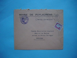 ENVELOPPE PUBLICITAIRE  -  MAIRIE DE PUYLAURENS  -  81  -  Tarn     -  1964  - - Otros