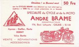 Buvard André BRAME Calais, Moto Et Cycle, Vélo, Bicyclette, Cyclisme - Moto & Vélo