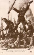 GUERRE 1914- 1918  WW1  Au Sommet De L' Hartmannswillerkopf  … Carte D'illustrateur - Guerre 1914-18