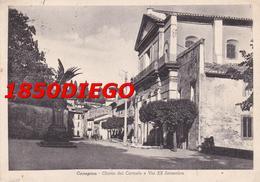 CANEPINA - CHIESA DEL CARMELO E VIA XX SETTEMBRE F/GRANDE  VIAGGIATA  1954 ANIMATA - Viterbo