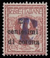 Trentino - Alto Adige BOLZANO 1: Francobollo D'Italia 2 C. Su 2 C. Rosso Bruno / Soprastampa Nera - 1919 - 8. WW I Occupation