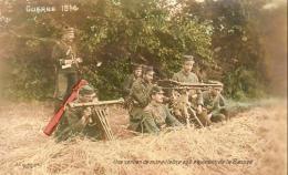 GUERRE 1914- 1918  WW1  Une Section De Mitrailleuses Aux Environs De La Bassée  ... - Guerre 1914-18