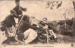 GUERRE 1914- 1918  WW1  Zouave Pointant Une Mitrailleuse  ... - Guerre 1914-18