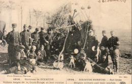 GUERRE 1914- 1918  WW1  Environs De DIXMUDE  Soldats Belges De La Croix- Rouge Et Leur Cuisine   ... - Guerre 1914-18