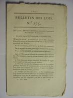 BULLETIN DES LOIS 1809 - TRIBUNAUX DE COMMERCE - EMPRUNT PARIS - FOIRE BETAIL ARLES - MINES DE FER SIXT SAMOUENS SUISSE - Décrets & Lois