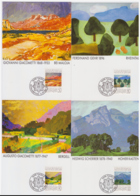 Liechtenstein 1991 - 4 Cartes Maximum - Peinture - Histoire - Série Complète (lie856) - Maximumkarten (MC)