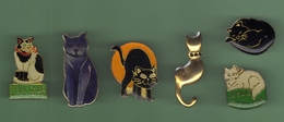 CHATS *** Lot De 6 Pin's Differents *** 0078 - Animals