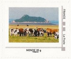 """FRANCE 2011 Collector """" Le Mont Saint - Michel """" : Vaches Au Pied Du Mont St Michel (vache) / Neuf ** Valeur Monde - France"""
